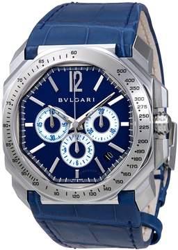 Bvlgari Octo Velocissimo Chronograph Blue Dial Men's Watch