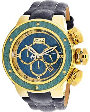 Invicta Men's Reserve 24436 Gold Leather Quartz Diving Watch