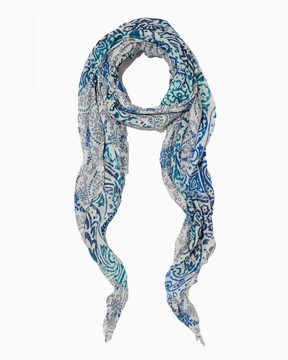 Charming charlie Gradient Paisley Floral Scarf