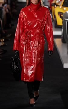 Ralph Lauren Leather Derek Trench Coat