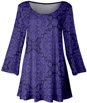 Lily Purple & Lavender Medallion Scoop Neck Tunic - Women & Plus