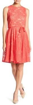 Gabby Skye Sleeveless Waist Belt Dress