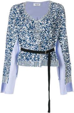 Aviu belted long-sleeve top