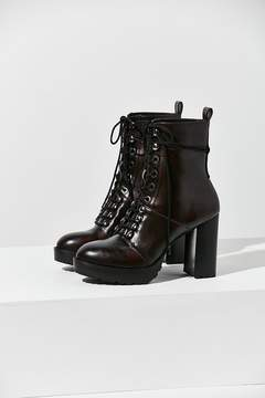 Urban Outfitters Kennedy Lace-Up Heeled Ankle Boot