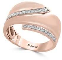 Effy Pave Rose Diamond and 14K Rose Gold Band Ring