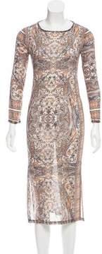 Calypso Silk Embellished Dress