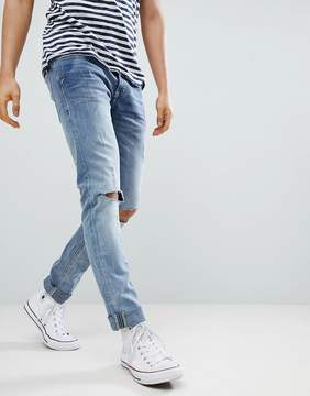 Blend of America Cirrus Distressed Ripped Skinny Jeans