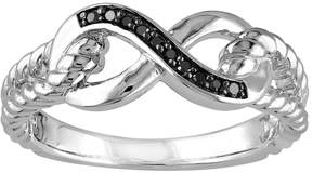 Black Diamond Kohl's Accent Sterling Silver Infinity Ring