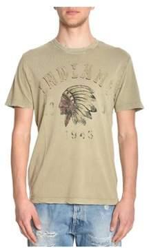 Aeronautica Militare Men's Beige Cotton T-shirt.