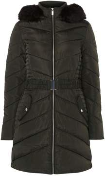 Dorothy Perkins **Tall Khaki Luxe Belted Padded Coat