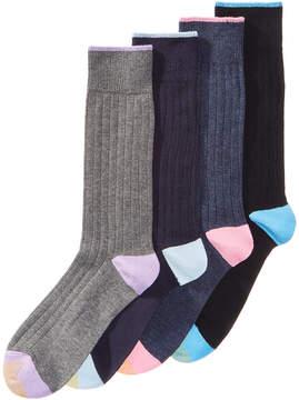 Gold Toe Men's 4-Pack Harbor Ribbed Fashion Socks