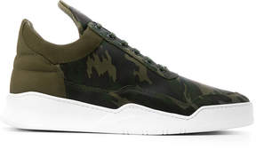 Filling Pieces camouflage high-top sneakers