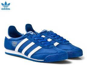 adidas Blue and White Junior Dragon Trainers
