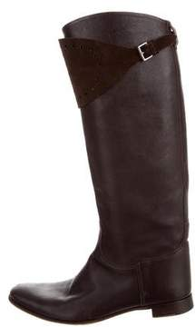 Hermes Leather Knee-High Boots