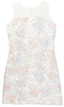 Blush by Us Angels Floral Illusion Dress (Big Girls)