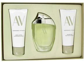 Adrienne Vittadini AV Gift Set for Women (3 oz Eau De Parfum Spray + 3.3 Body Lotion + 3.3 oz Shower Gel)