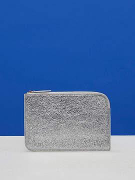 Diane von Furstenberg Metallic Medium Zip Pouch