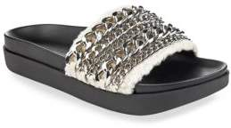 KENDALL + KYLIE Chained Leather Slides