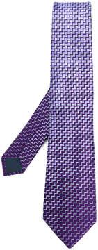 Lanvin zig-zag print tie