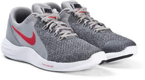 Nike Grey and White Red Lunar Apparent Running Shoes
