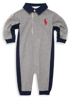 Ralph Lauren Baby's Cotton Jersey Rugby Coverall