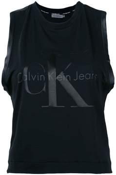 CK Calvin Klein logo print tank top