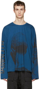 Juun.J Blue Printed T-Shirt