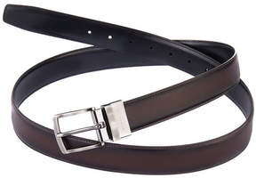 Perry Ellis Reversible Burnished Edge Leather Belt