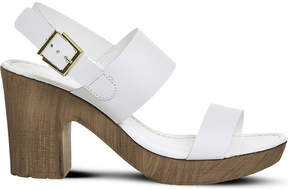 Office Michelle leather and wood-effect sandals