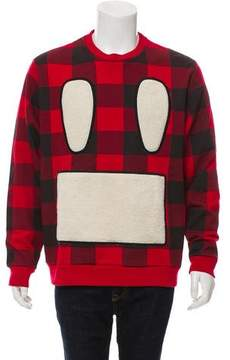 Mostly Heard Rarely Seen Sherpa Face Embroidered Sweater