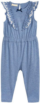 First Impressions Ruffle-Front Jumpsuit, Baby Girls, Created for Macy's