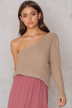 NA-KD One Shoulder Knitted Sweater
