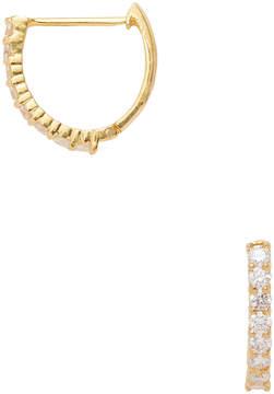 Amrapali Women's 18K Yellow Gold & 0.56 Total Ct. Diamond Hoop Earrings