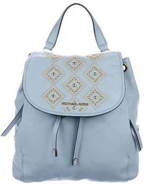 MICHAEL Michael Kors Stud Embellished Pebbled Leather Backpack