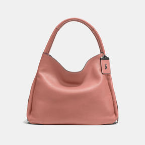 COACH BANDIT HOBO 39 IN NATURAL PEBBLE LEATHER - BLACK COPPER/MELON
