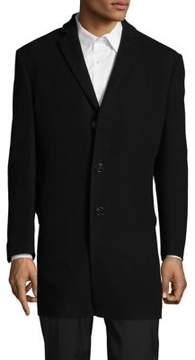 Calvin Klein Wool-Blend Button-Front Coat