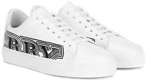 Burberry Printed leather sneakers