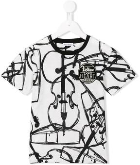 Dolce & Gabbana Kids violin print T-shirt