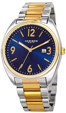 Akribos XXIV Men's Two-Tone Bracelet Watch