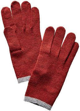 Portolano Men's Red Merino Wool Gloves