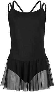 Capezio Black Carefree Camisole Skirted Leotard - Girls