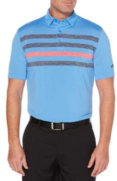 Callaway Ventilated Space-Dye Chest-Stripe Polo