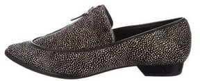 Derek Lam 10 Crosby Ponyhair Pointed-Toe Loafers