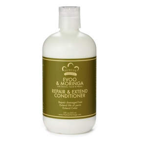 Nubian Heritage Evoo + Moringa Conditioner by 12oz Wash)
