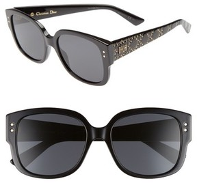 Christian Dior Women's Square 54Mm Sunglasses - Black/ Grey