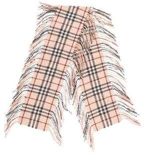 Burberry Wool Fringe Scarf