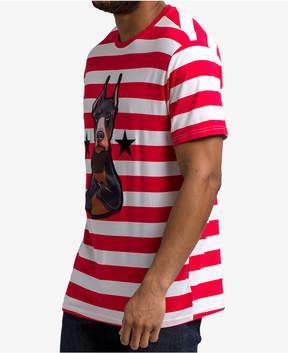 Hudson Nyc Men's Striped Doberman Graphic T-Shirt