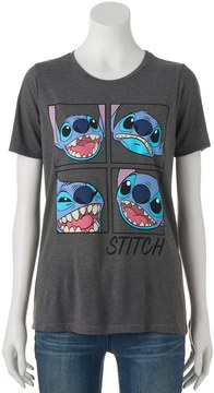 Disney Disney's Lilo & Stitch Juniors' Face Expressions Short Sleeve Graphic Tee