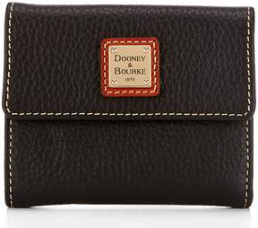 Dooney & Bourke Pebble Collection Small Credit Card Wallet - BLACK - STYLE