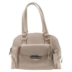 Lancel Adjani Beige Leather Handbag